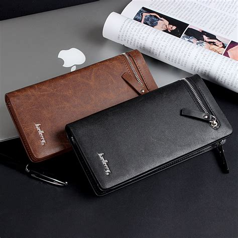 Dompet Baellerry Crocodile Pattern Zipper Clutch Bag Pria brand s business casual wallet zipper versatile