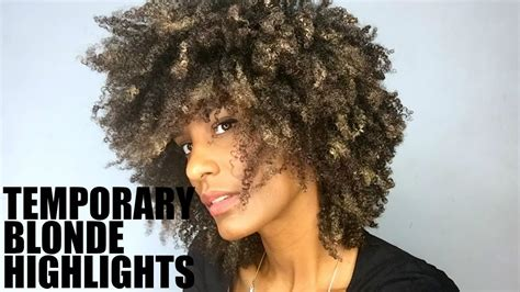 afro men brown highlights temporary blonde highlights on natural afro hair youtube
