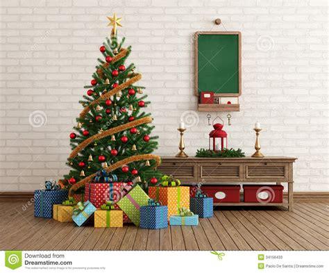 interior christmas decorations macollinsdesign com vintage christmas interior stock illustration image of