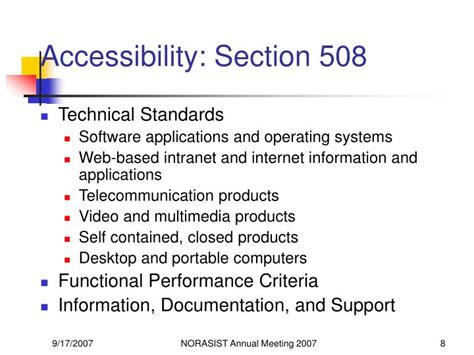 accessibility section 508 ppt accessibility usability and web standards