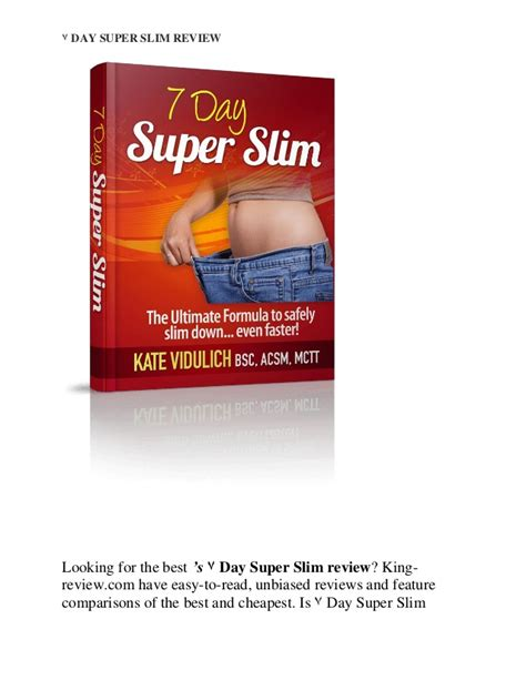 Sevendays Slimming 7 day slim review