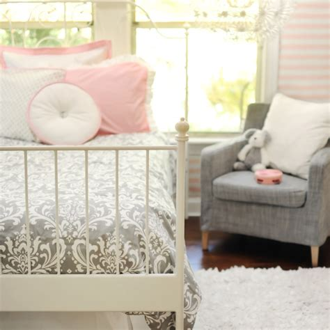 pink and gray bedroom pictures damask duvet traditional girl s room new arrivals inc