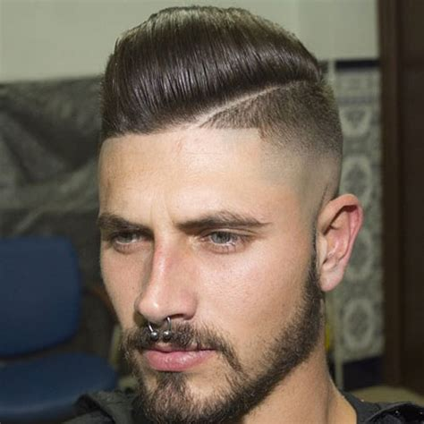What Is The Mens Haircut That Is Shaved Up On The Sides And Long On The Top | shaved sides hairstyles for men