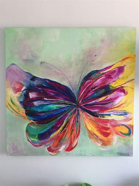 cuadros de texturas mariposa en acr 237 lico y 243 leo con texturas 1m x 1m