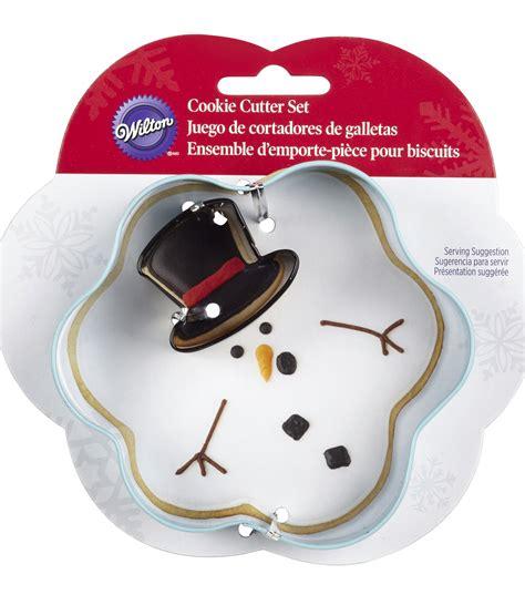 Snowman Cutter Set 2 metal cookie cutter set 2 pkg melted snowman jo
