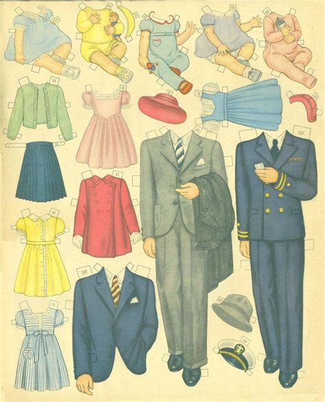 Doll With Paper - vintage paper dolls part six fabulous forties dolls