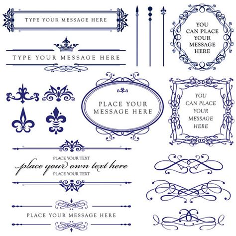 Wedding Border Design Royal Blue by 6 Best Images Of Royal Blue Corner Borders Royal Blue