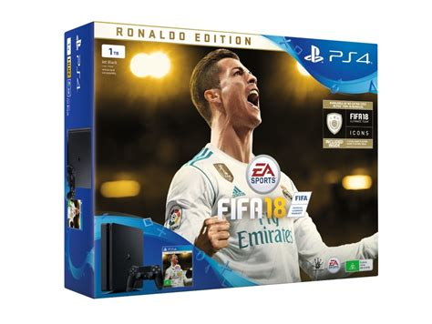 Ps4 Slim 500gb Bundle Fifa Paket 2 Stik Original Sony Kartu Garansi ps4 slim 1tb fifa 18 ronaldo edition bundle ps4 buy now at mighty ape nz