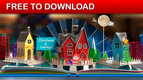 Christmas Pop Up Book 2 After Effects Template Free Download Youtube Pop Up Book After Effects Template