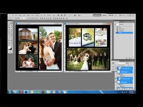 how to create a wedding album in photoshop.wmv youtube