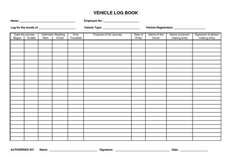 log book templates best photos of vehicle maintenance log book template