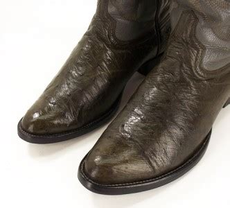 don cucos boots 074e mens don cuco s boots olive real ostrich embroider