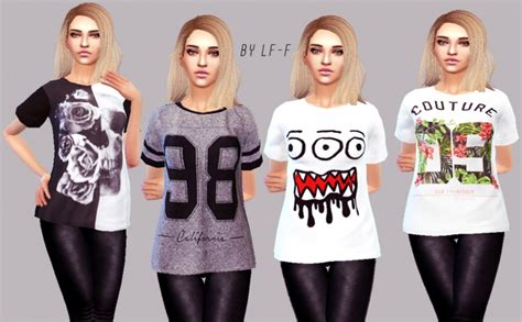 sims 4 clothing for females sims 4 updates random t shirts at lulufrosty frog 187 sims 4 updates