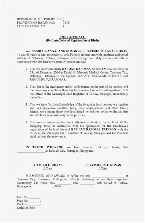 Notarised joint marriage affidavit format
