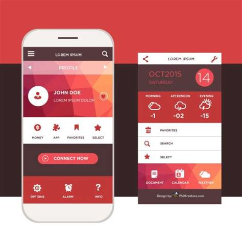 mobile interface design 50 free mobile app mockup psd templates xdesigns