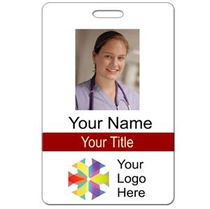 vertical id card template word photo id card style 101 top seller name tag wizard