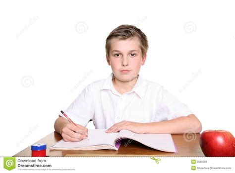 School Pupil At Desk Royalty Free Stock Images Image Kid At Desk
