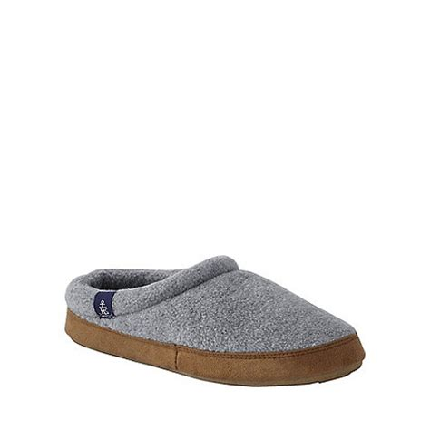 lands end womens slippers lands end grey s fleece clog slippers debenhams