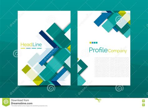 magazine layout design vector color business brochure cover vector template stock vector