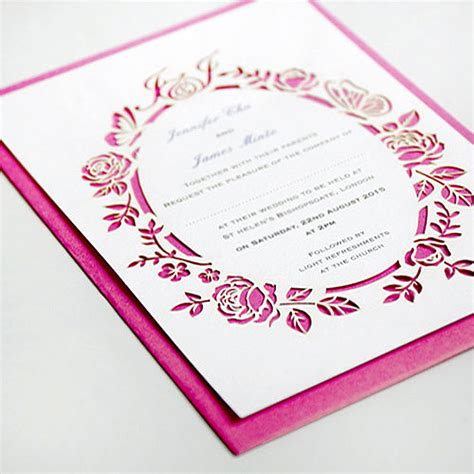 wedding invitation article 20 of the best laser cut wedding invitations articles easy weddings