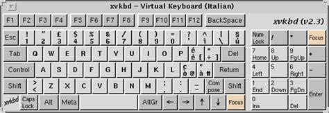 layout italian keyboard xvkbd virtual keyboard for x window system
