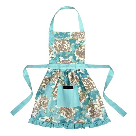 what is an apron betsy girls frilly apron duck egg blue ragged rose