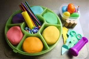 Playdough Table by Playdough Rainbow Colours Happy Hooligans