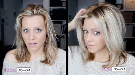 short hair blowouts diy voluminous hair blowout tutorial video youtube