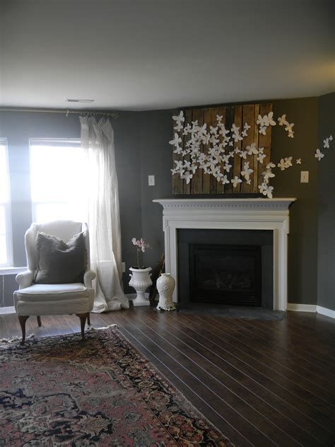 D Butterfly Wall Art Design Fabulous Within Fireplace