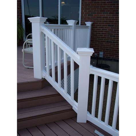 deck railing sections 4 liberty classic vinyl handrail section liberty