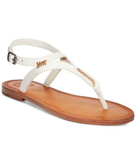 sandals at frye s ruth whipstitch sandals in white save 30