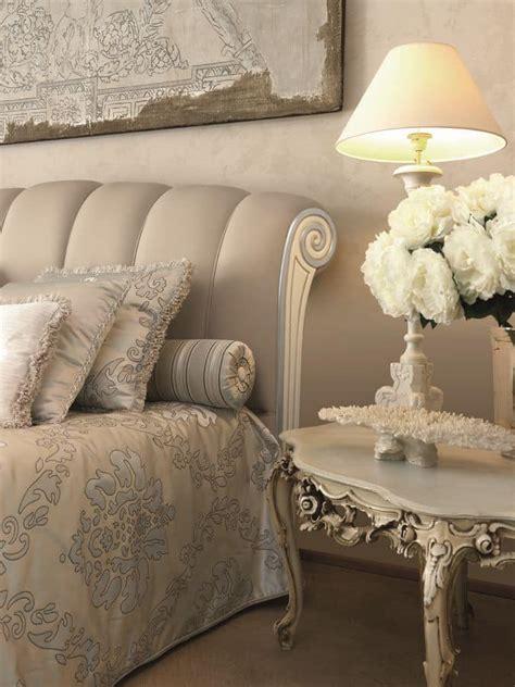 letto argento letto classico con inserto laccato avorio e argento