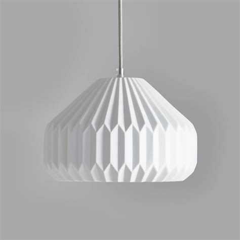 ceramic pendant lights blanche ceramic pendant light by horsfall wright