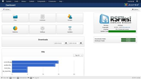 joomla 174 file and download manager rsfiles