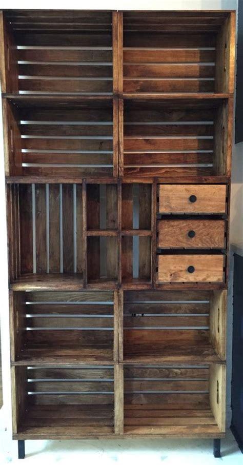 ideas    diy crate bookshelf crate bookshelf