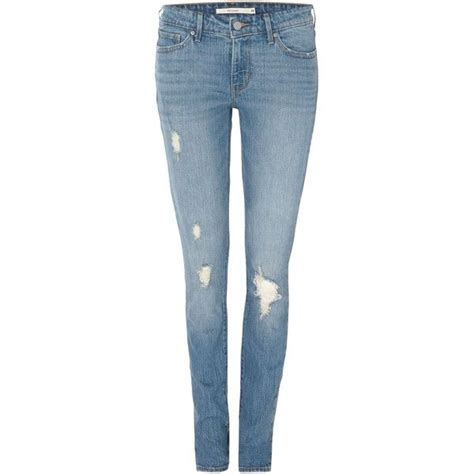 womens light wash levi jeans levi s 711 skinny jean in goodbye heart 130 liked on