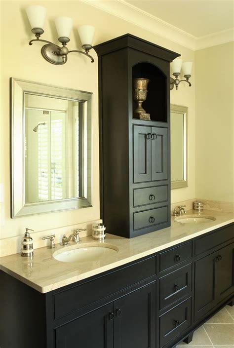 cabinet between sinks in master   Bathrooms   Pinterest