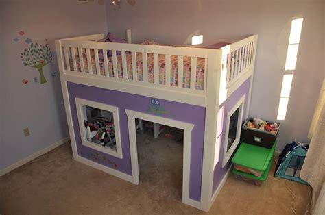 playhouse loft bed full size ana white