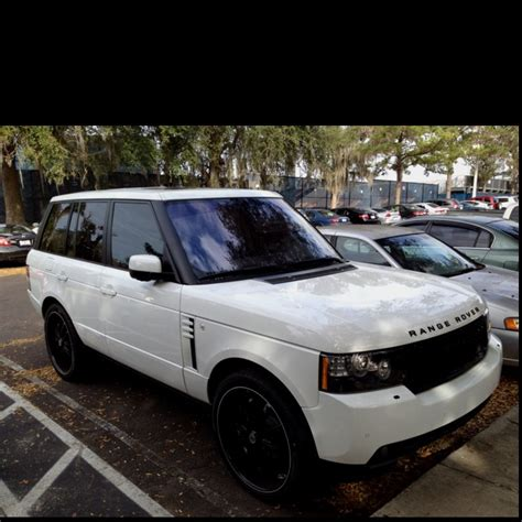 white range rover rims dreaaam caaar white range rover sport with blacked out