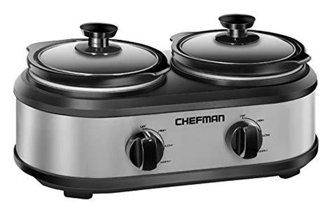 Pot Ps 125 Gr 3 chefman rj15 125 d chefman cooker buffet server with 2 removable 1 25 qt oval