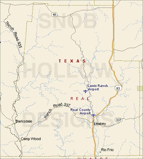leakey texas map real county texas color map