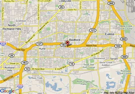 bedford texas map map of 8 motel bedford dfw airport west bedford