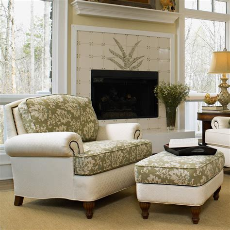 living room ottomans perfect chairs with ottomans for living room homesfeed