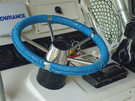 rope wrapping boat steering wheel steering wheel wrap the hull truth boating and fishing