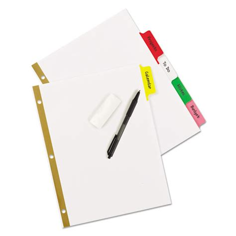 how to erase pen writing from paper write erase big tab paper dividers 5 tab multicolor