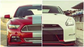 Nissan Gtr Vs Ford Mustang Gt 2015 Ford Mustang Gt Vs 2015 Nissan Gt R Nismo