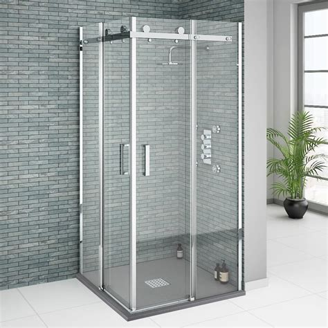 corner entry shower door square frameless corner entry shower enclosure 800