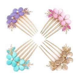 beautiful hair pins beautiful flower rhinestone hair pin barrette comb hairpin bridal free