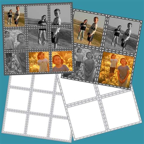 Easy Scrapbooking Page Templates Bing Images Easy Photo Collage Template