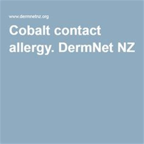 Cobalt And Nickel Detox by 15 Things To Avoid If You Re Allergic To Cobalt Cobalt